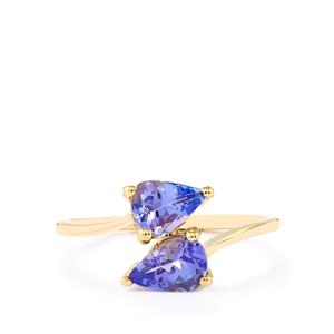 AA Tanzanite Ring  in 10k Gold 1.29cts