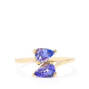 1.29ct AA Tanzanite 10K Gold Ring