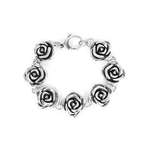 Sterling Silver Altro Rose Bracelet 20.26g