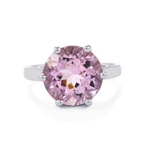 5.61ct Rose De France Amethyst Sterling Silver Ring