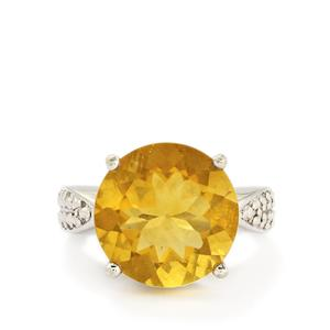11.53ct Golden  Fluorite Sterling Silver Ring