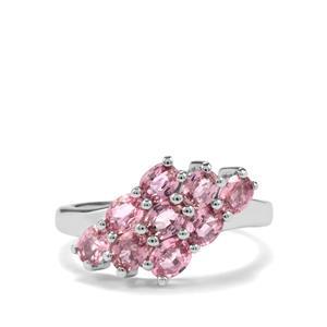 1.97ct Sakaraha Pink Sapphire Sterling Silver Ring
