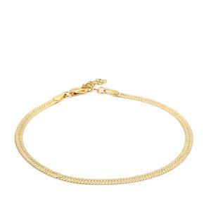 "7"" Midas Altro Diamond Cut Herringbone Bracelet 3.07g"
