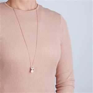 Elegance Two Tone Midas Flip Flop Necklace