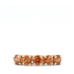 Ratanakiri Cinnamon Zircon Ring in 9K Gold 1.71cts
