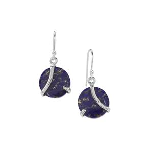 Sar-i-Sang Lapis Lazuli Earrings in Sterling Silver 16cts