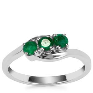 Carnaiba Brazilian Emerald Ring in Sterling Silver 0.45ct
