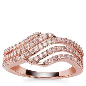 Natural Pink Diamond Ring in 9K Rose Gold 0.50ct