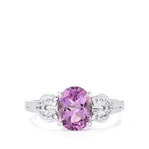 Moroccan Amethyst Ring with White Topaz in Sterling Silver 1.83cts