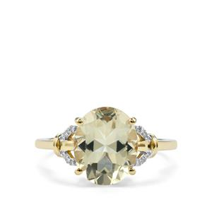 Serenite Ring with Diamond in 9K Gold 3.32cts