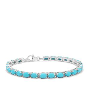 Sleeping Beauty Turquoise Bracelet in Sterling Silver 10.25cts