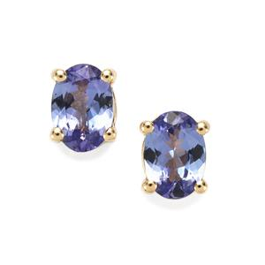 1.46ct AA Tanzanite 10K Gold Earrings