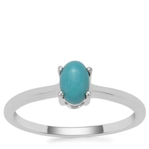 Sleeping Beauty Turquoise Ring in Sterling Silver 0.43ct