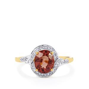 Bekily Color Change Garnet & Diamond 18K Gold Tomas Rae Ring MTGW 2.21cts