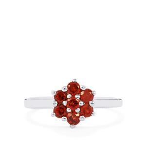 Mozambique Garnet Ring in Sterling Silver 1.05cts