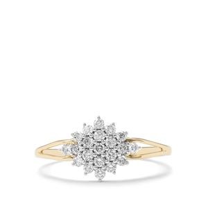 Argyle Diamond Ring in 9K Gold 0.33ct