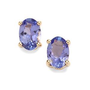 1.20ct AA Tanzanite 9K Gold Earrings