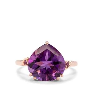 Zambian Amethyst Ring in 9k Rose Gold 5.08cts