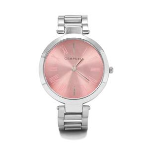 Silver Case, Pink Dial Watch With adjustable Alloy Chain Analog Display (HC21) (Lww-Alc-ii-120707)