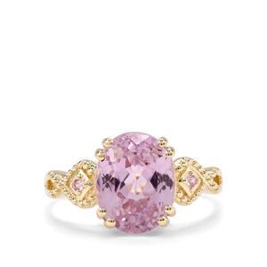 Kolum Kunzite & Pink Sapphire 9K Gold Ring ATGW 4.58cts