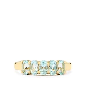 Mozambique Aquamarine Ring in 10k Gold 1.18cts