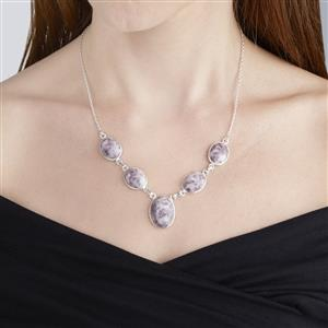56.73ct Lepidolite Sterling Silver Aryonna Necklace
