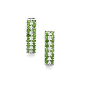 Chrome Diopside Earrings in Sterling Silver 1.82cts
