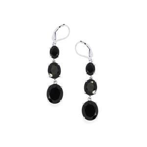 21.73ct Black Spinel Sterling Silver Earrings