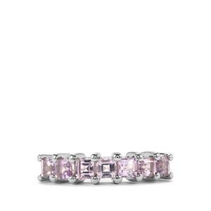 Rose De Framce Amethyst Ring in Sterling Silver 0.97ct