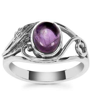 Kenyan Amethyst Ring in Sterling Silver 1.36cts