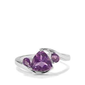 1.91ct Moroccan Amethyst Sterling Silver Ring