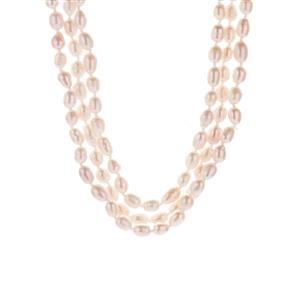 Kaori Cultured Pearl Endless Necklace ( 7x5mm )