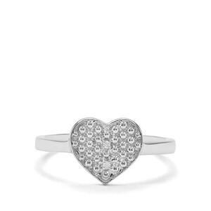 Diamond Sterling Silver Heart Ring