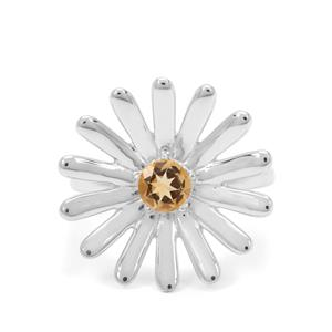 0.50ct Diamantina Citrine Sterling Silver Forever Ring