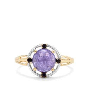 Tanzanite & Ceylon Blue Sapphire 9K Gold Ring ATGW 2.66cts