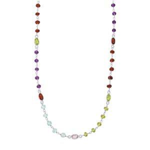 75ct kaleidoscope Gemstone Sterling Silver Necklace