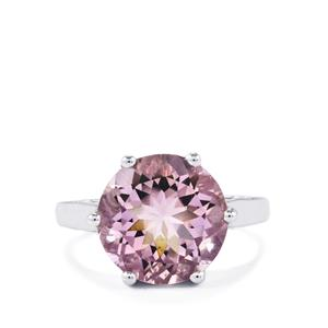 Rose De France Amethyst Ring in Sterling Silver 5.66cts