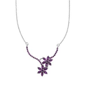 3.48ct Zambian Amethyst Sterling Silver Necklace