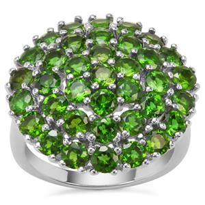 Chrome Diopside Ring in Sterling Silver 4.96cts