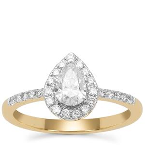 Diamond Ring in 18K Gold 0.74cts