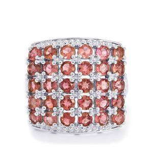 3.90ct Oyo Pink Tourmaline Sterling Silver Ring