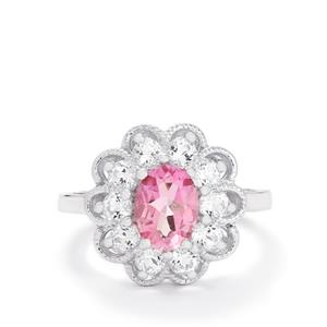 2.73ct Mystic Pink & White Topaz Sterling Silver Ring