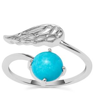 Sleeping Beauty Turquoise Ring in Sterling Silver 1.11cts