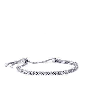 """9.5"""" Sterling Silver Altro Diamond Cut Venetian Bracelet 8.58g"""