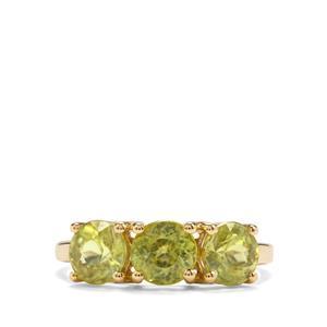 3.12ct Ambilobe Sphene 9K Gold Ring