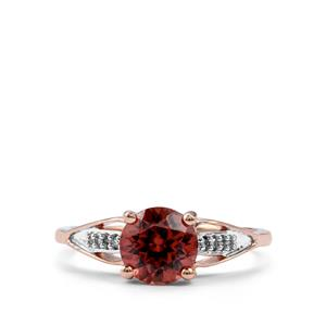Zanzibar Zircon & Diamond 9K Rose Gold Ring ATGW 1.87cts