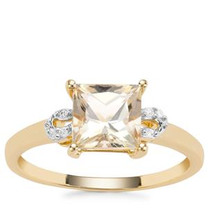 Serenite Ring with White Diamond in 9K Gold 1.61cts