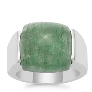 Kiwi Quartz Ring in Sterling Silver 12cts
