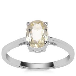 Minas Novas Hiddenite Ring in Sterling Silver 1.59cts