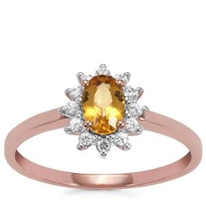 Marialite Ring with White Zircon in 9K Rose Gold 0.65cts